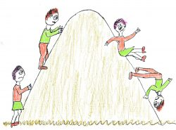 Jack and Jill climbing the public speaking hill