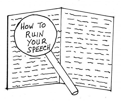 Using a full speech script